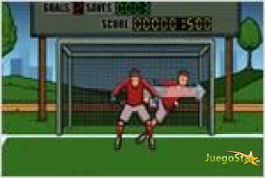Juego soccer suburban goalie portero de futbol suburbano
