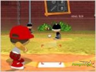 Juego  beisbol en la calle