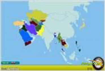 Juego  asia geoquest encontrar los paises de asia
