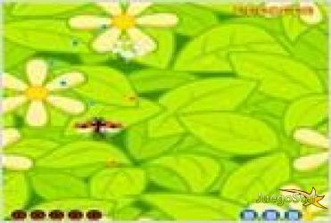 Juego bugs attack el ataque de los insectos