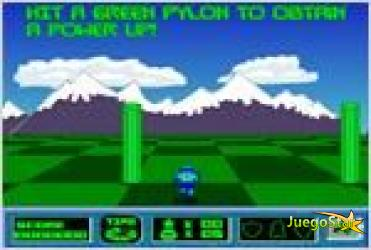 Juego  planet runner corriendo por el planeta