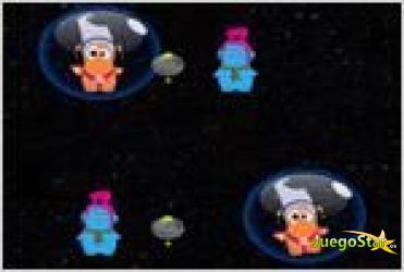 Juego  alien peekaboo eliminando extraterrestres