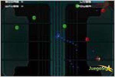 Juego glow shooter tirador espacial