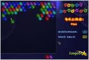 Juego  color blaster revienta las burbujas