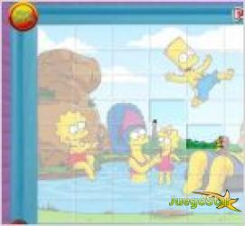Juego  puzzle simpsons
