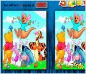 Juego  encuentra las diferencias winnie pooh