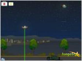 Juego  aliens en la noche