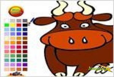 Juego sympathetic cow coloring colorear la vaca