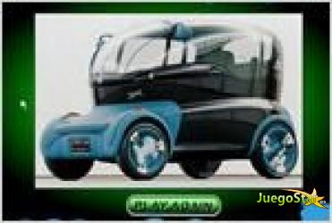 Juego  blue concept car puzzle rompecabezas