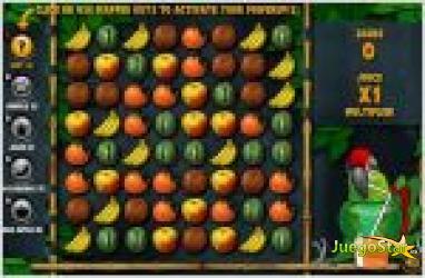 Juego thirsty parrot frutas para el loro