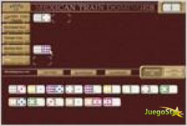 Juego  mexican train dominoes domino