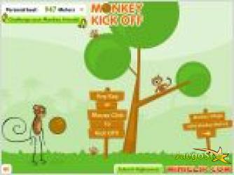 Juego  mono futbolero