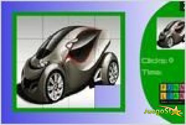 Juego  fast concept car slide puzzle rompecabezas de auto
