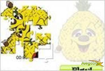 Juego pineapple head jigsaw rompecabezas de piña