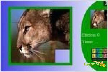 Juego  big wild cat slide puzzle rompecabezas de puma