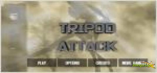 Juego  tripod attack. robot araña