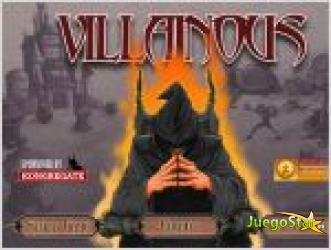 Juego  villainous  tower attack. villa villano