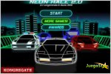 Juego neon race 2. carrera de coches