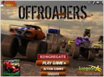 Juego offroaders. carrera de coches.