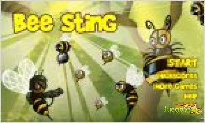 bee sting. guerra de abejas