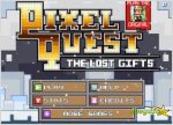Juego  pixel quest the lost gifts. navidad