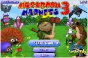 Juego  mushroom madness 3. martillazos