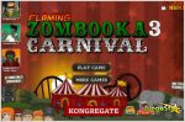 Juego  flaming zombooka 3. matar a los zombies