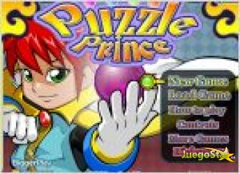 Juego  puzzle prince. bolas de colores.