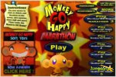 Juego  monkey go happy marathon. maraton del mono