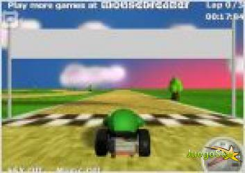 Juego  peakart. carrera de coche