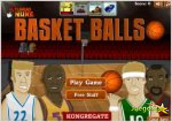 Juego  basketballs. baloncesto