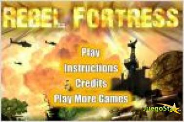 Juego  rebel fortress. guerra en el aire.