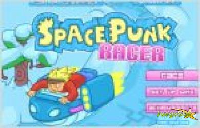 Juego  space punk racer. carrera en el espacio
