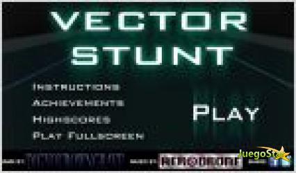 Juego vector stunt. carrera en el espacio.