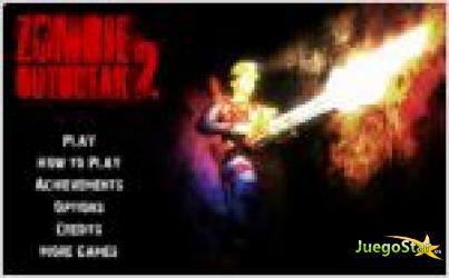 Juego  zombie outbreak 2. destruye a los zombies