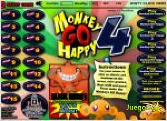 Juego  monkey go happy 4. haz feliz al mono