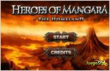 Juego  heroes of mangara. heroe de mangara