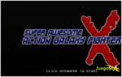 Juego  super awesome action galaxy fighter x. guerra en el espacio