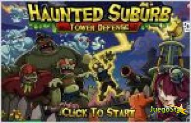 Juego  haunted suburb. cazadora de monstruos