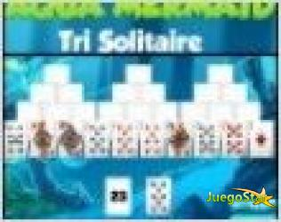 aqua mermaid tri solitaire juego de cartas