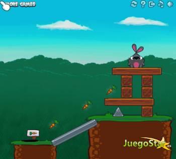 Juego down the rabbit hole por el agujero del conejo