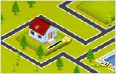 town engineer contruyendo un pueblo