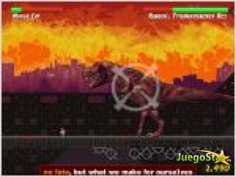 Juego  ninja cat and zombie dinosaurs gato ninja y dinosaurio zombie