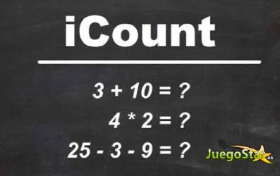 Juego  icount resolver operaciones aritmeticas