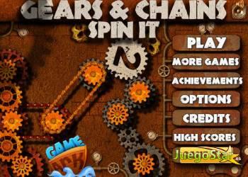 Juego  gears  chains spin it 2 engranajes y cadenas