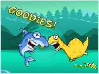 Juego  monster eats food monstruo come alimentos