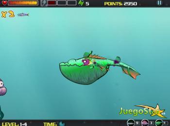 Juego  Atomic Sea pez atómico mutante