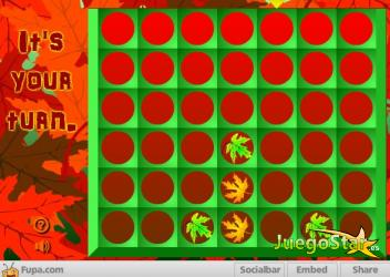 Juego Falling Leaves Four in a Row