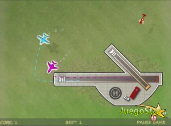 Juego  Controlando el espacio aereo