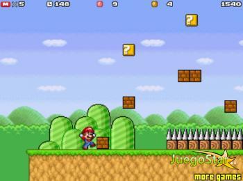Juego Super Mario Bros salvando a la princesa Peach